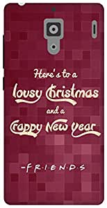 The Racoon Lean A New Year's Toast (Friends Style) hard plastic printed back case for Xiaomi Redmi