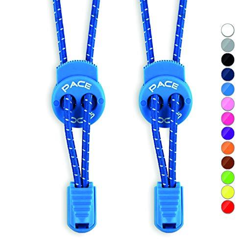 ALPHAPACE Schnürsenkel Blau 120cm 120 cm Damen Stiefel Flach Hickies Gummi Schnürsenkel Gummi Elastisch Elastische Schnürsenkel Gummi Schnürsenkel Schuhbänder Silikon Schnürsenkel Schnellverschluss