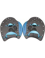 TUEU Profi Handpaddel mit verstellbarem Gurt f/ür Schwimmtraining blau S