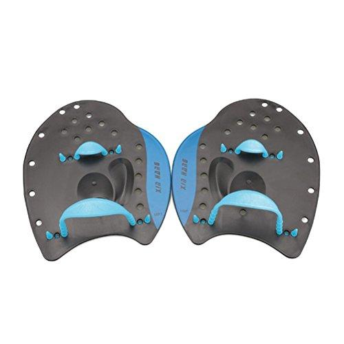 WINOMO Swim Paddle Hand Paddel für Trainng Schwimmen Anfänger Erwachsene Kinder Blau -