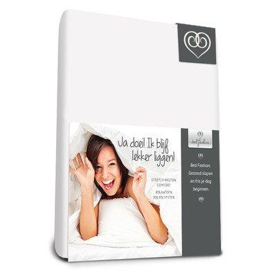 Bed-Fashion Komfort-Stretch Spannbetttuch, Flanell, weiß, Einzelbett, 90x 200cm -