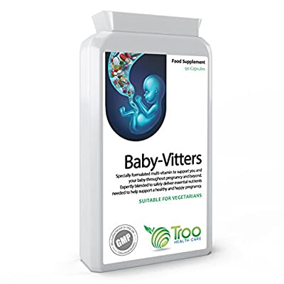 Baby-Vitters Pregnancy and Prenatal Multivitamin and Mineral 90 Capsules - 26 Essential Nutrients with Folic Acid by Troo Health Care