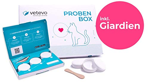 vetevo Labortest Katze - Durchfall, Würmer, Giardien. Gezielt & diagnosebasiert. Zeigt, ob Wurmkur nötig ist und wenn ja - welche die richtige ist (Wurmtest inkl. Giardientest, Katze)