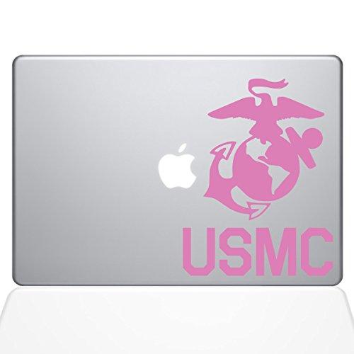 Die Aufkleber Guru 1302-mac-13a-bg USMC Logo Aufkleber Vinyl Aufkleber rosa rose 13
