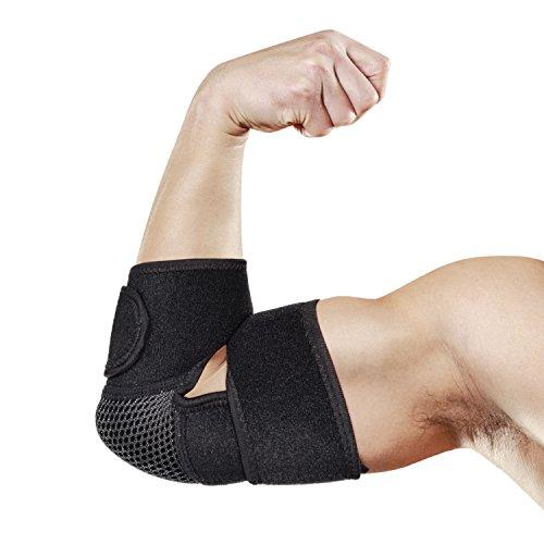 Chenci Ellenbogenbandage, Ellenbogenschoner Ellenbogenschutz tennisarm Bandage für Handgelenk Armbandage mit Klettverschluss, Ideal Für Sport, Arbeit, Alltag