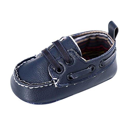 Schuhe Baby Xinan Junge Mädchen Leder Krippe Soft Shoes (0-6 Monate, Marine) (Marine Rib 6)