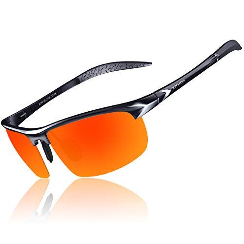 KITHDIA Herren Polarisierte Sonnenbrille Aluminium Magnesium Rahmen Auto Fahren Sonnenbrille