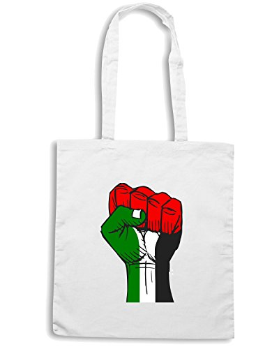 T-Shirtshock - Borsa Shopping TM0563 free palestine 2 Bianco