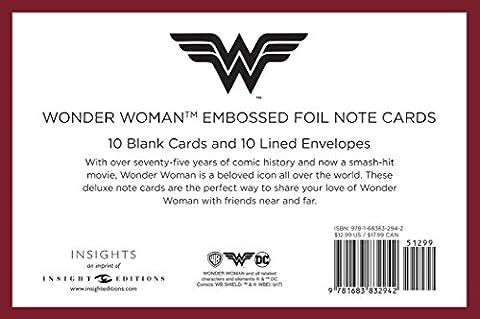 DC Comics: Wonder Woman Foil Note Cards (Set of 10)