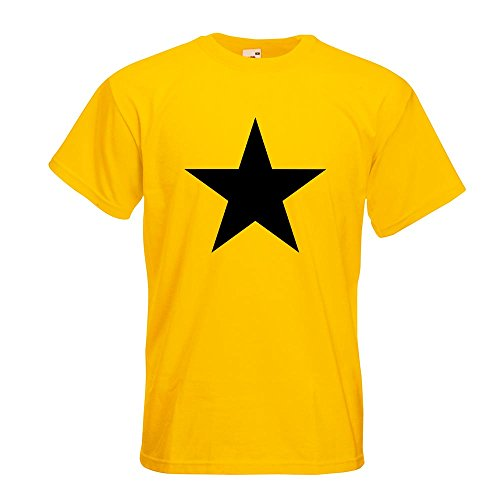 KIWISTAR - Stern Star Symbol T-Shirt in 15 verschiedenen Farben - Herren Funshirt bedruckt Design Sprüche Spruch Motive Oberteil Baumwolle Print Größe S M L XL XXL Gelb