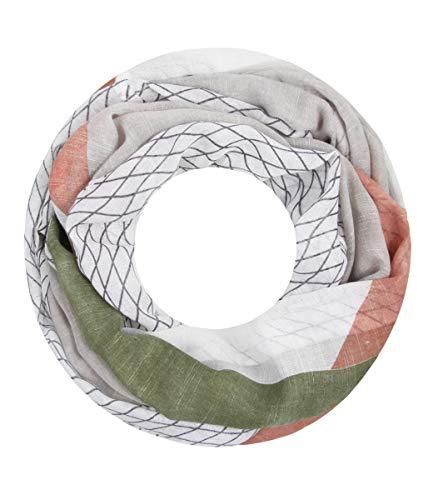 Majea NEUE Kollektion Damen Loop Schal viele Farben Muster Schlauchschal Halstuch in aktuellen Trendfarben (grau 38) -