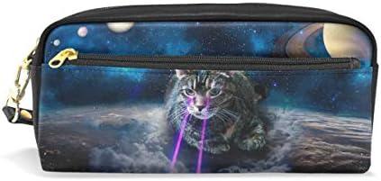 Galaxy Cat Cat Cat Lunar Cuir Stylo Trousse Maquillage Sac pochette à maquillage de voyage Sac d'école B07JM244R6 | De Fin D'année Bonnes Affaires Vente  e8ff79