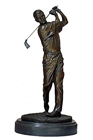 Toperkin Sport Deko Golfer Art Craft Bobby Jones Bronze Statue TPY-009-2 (Golfer Bronze Garten-statue)
