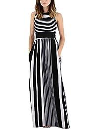super cute 5d76b 60211 Amazon.it: Vestito nero a righe: Abbigliamento