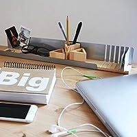 """Organizador de escritorio""""L"""" de madera y metal. Ideal para mantaner la mesa de tu oficina limpia y ordenada. Especial para tarjetas, bolis, lapices, gafas, llaves, clips."""