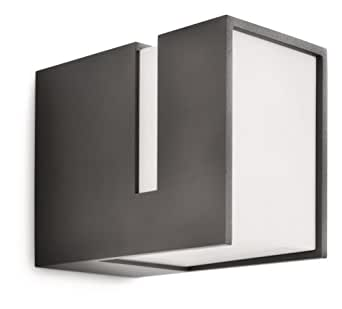 Philips luminaire ext rieur applique murale acres gris for Philips eclairage exterieur