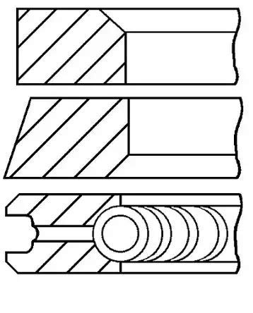 Goetze Engine 08 - 109507 - 00 Set de bagues de Piston