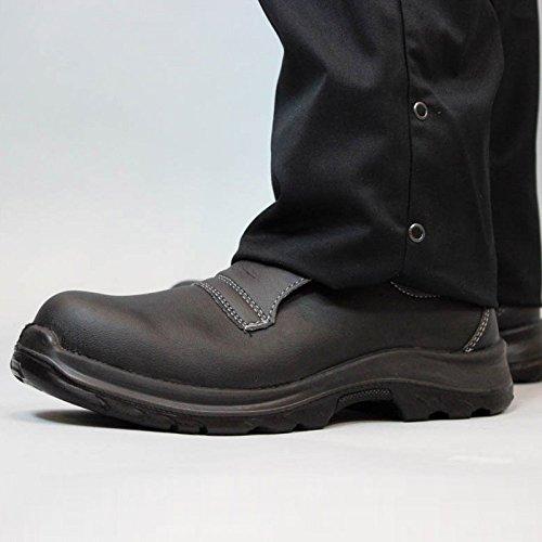 Chaussure de sécurité cuisine noire mocassin