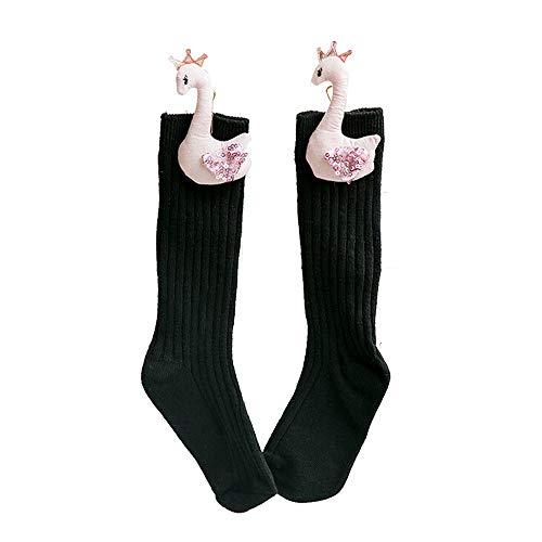 Greetuny 1par 1~10 años Calcetines infantiles Algodón Alas de angel Niña Calcetines antideslizantes lindo Tejer socks (Rojo M)