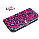 Samsung Galaxy S3 III GT i9300 Novoskins Pink Leopard Diary Case ART NOVO COLLECTION Free Umix Case SALE
