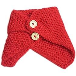 Koly El bebé del invierno de los niños del calentador del cuello de la bufanda del mantón de punto (rojo)