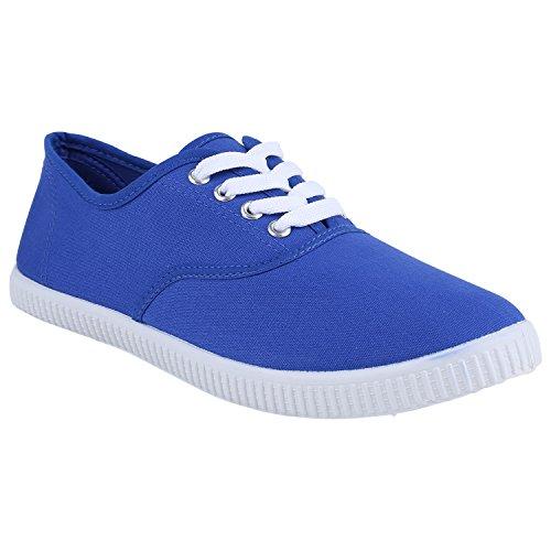 Damen Herren Slipper Sneaker Stoffschuhe Turnschuhe Sommer in mehreren Farben 36-45 Blau Blue