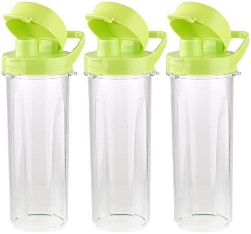 Rosenstein & Söhne Zubehör zu Mischer: Mix- & Trinkbecher für Smoothiemixer BR-500, 500 ml, BPA-frei, 3er-Set (Smoothie Maker)