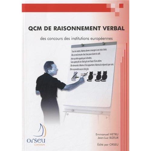 QCM de raisonnement verbal des concours des institutions européennes