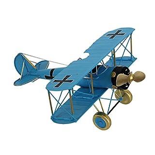 Model biplane airplane metal 29cm plane antique style