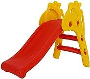 Baybee Giraffe Slide Foldable Baby Garden Slide for Kids - Plastic Garden Slide for Kids/Toddlers/Indoor/Outdo