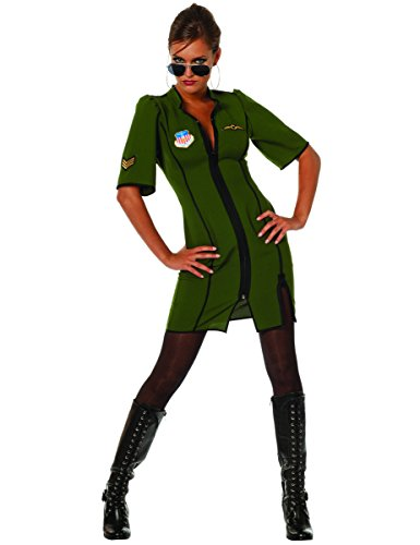 Stekarneval Flugzeug-Pilotin Kostüm für Damen (Mädchen Kostüm Pilot)