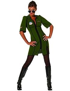 Stekarneval - Disfraz de piloto sexy para mujer, talla UK 12-14 (410640)