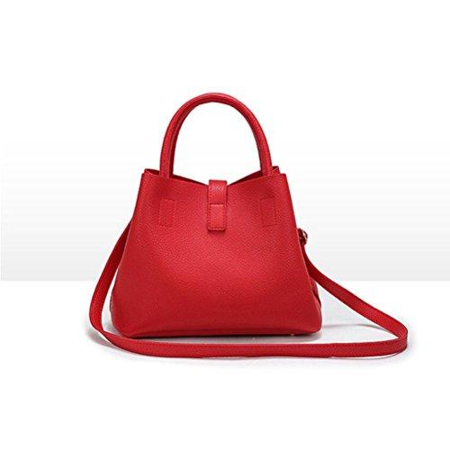 Honeymall Damen Elegant prägnant Tasche Totes Lässig Handtaschen Handtaschen Damen Hobos und Schultertaschen Crossbody Tasche(Schwarz) Rot