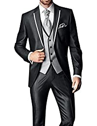 GEORGE Costume Homme Hommes costumes veste veste de costume 3 pièces veste +gilet + pantalon 126