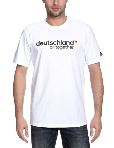 adidas Herren Fan T-Shirt Deutschland Graphic, white/black, L, X25748