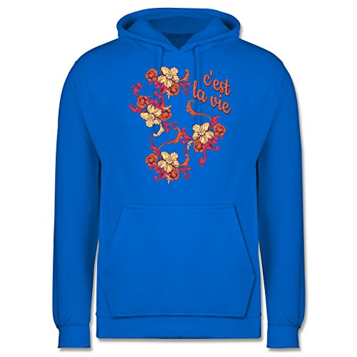 Statement Shirts - C'est la vie - Männer Premium Kapuzenpullover / Hoodie Himmelblau
