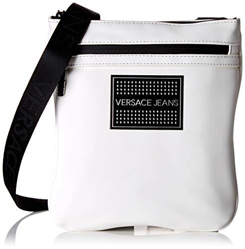 Versace Jeans Couture Herren Bag Schultertasche, Weiß (Bianco Ottico), 1x23,5x21 Centimeters
