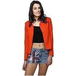 Yepme Ertina Casual Blazer - Orange -- YPMBLZR5004_L