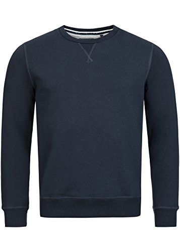 Brave Soul Herren Sweater, Crew Neck Pullover, Regular fit, dark navy