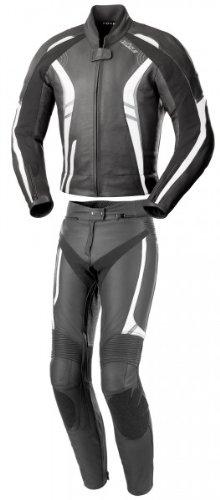 *Büse 109102-38 Damenlederkombi Jerez, Schwarz/weiß/rot, Größe : 38*
