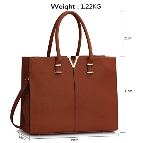 Xardi London, Borsa tote donna large Brown Style 2