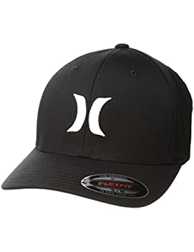 Hurley One&Only Gorra, Hombre, Negro/Blanco, S/M