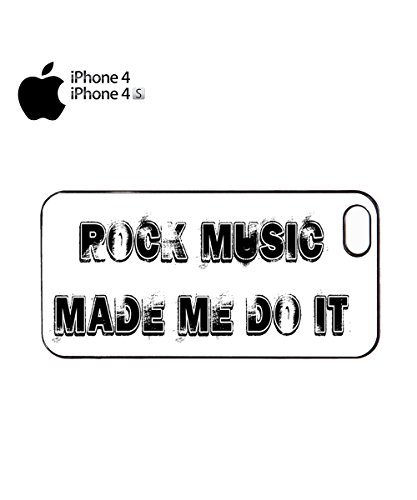 Rock Music Made Me Do It Cool Mobile Phone Case Back Cover Coque Housse Etui Noir Blanc pour for iPhone 6 Plus White Noir