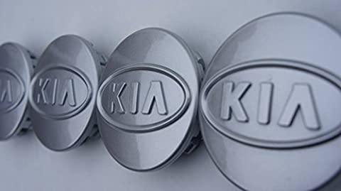 Set of 4 KIA - Alloy Wheel Centre Hub Caps Face 59mm