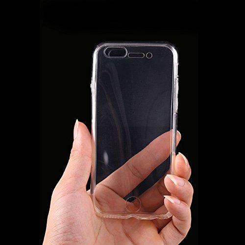 SAVFY Apple iPhone SE / 5S / 5 Hülle Silikon Crystal Vorne und Hinten Schutzhülle 360° Full Body Cover TPU Ultra dünn Case durchsichtig