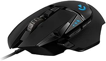 Logitech G502 HERO High-Performance Gaming Maus, HERO 16000 DPI Optischer Sensor, RGB-Beleuchtung, Gewichtstuning, 11...