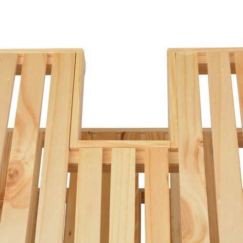 Waschtischunterschrank, Holz, Braun – 40x65x55cm - 6