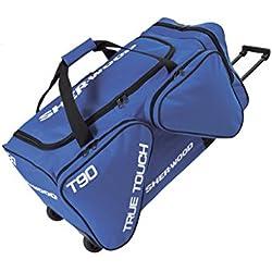 Sherwood Eishockeytasche True Touch T 90 Wheel Bag - Bolsa para material de hockey sobre hielo, color azul, talla 100 x 50 x 46 cm, 230 l