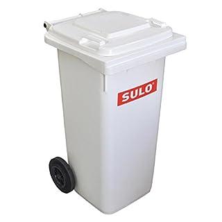 Mülltonne Müllbehälter 120 liter, weiß - Sonderanfertigung-