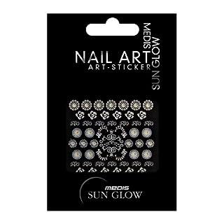Medis Sun Glow Nail Art-Sticker Ornamente, Blumen/Rosetten/Floral-Motive